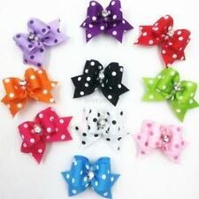 Cute 20pcs Pet Cat Small Dog Hair bows Rubber Bands Clips Grooming Accessories