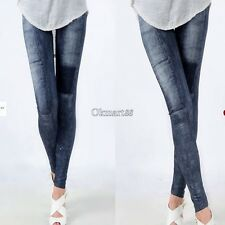 Womens Denim Jeans Sexy Skinny Leggings Jeggings Stretch Pants Trousers OK