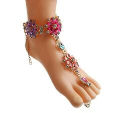 Ladies Fashion Foot Chain Accessory Exquisite Diamond Flower Beach Anklets