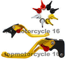 FXCNC CNC Short Gold 3D Rhombus Fringe Brake Clutch Lever For BMW R NINE T