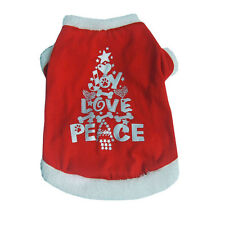 Christmas Gift Dog Clothes Red Sweater Pet Clothing Puppy Coat Jacket XS/S/M/L