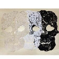 2pcs Big Skull Appliques Cool Punk Lace Patch Floral Cotton