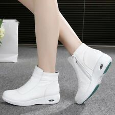 New Arrival Nurse Shoes Warmer Hospital Doctor Shoes Antiskid Zipper Ankle Boots