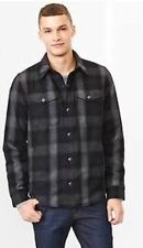 GAP MENS GRAY & BLACK PLAID WINTER WOOL BLEND JACKET SOLD OUT S/989602