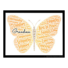 Personalised Condolence Sympathy Loss Gift RIP Butterfly Design Grave Decoration