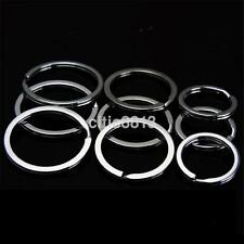 20PCS Strong Split Ring Keyring Shiny Silver Nickel Hoop Metal Loop Key Rings US