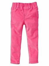 Baby Gap Girls Snow Brights Skinny Cords Pants pink Stretchy Bottomes new size