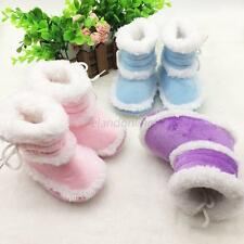 Newborn Infant Toddler Baby Boy Girl Snow Boots Crib Shoes Prewalker Size 0-18M