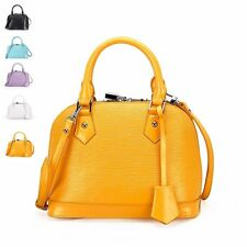 Fashion Solid Shell Leather Satchel Totes Women Shoulder Crossbody Small Bags