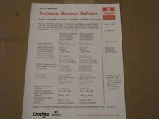 Dodge Service Bulletin 1967 Charger Coronet RT 440 Dual Point Distributor 4 Spd