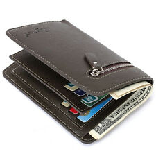 Coin Zipper New Men Man Wallet Leather Purse Cowhide With Credit Card Holder
