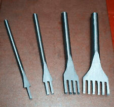Stitching  New Leather Craft Tool 1/2/4/6 Prong Punch Tool Lacing  4mm  Hole