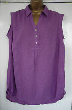 NEW ex EVANS - 16 26 28 - beautiful LILAC cool Cotton ladies TOP/ TUNIC - BNWoT