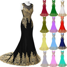 Mermaid Long Bridesmaid Formal Evening Gown Dress Cocktail Party Prom Ball Gown