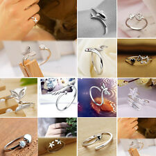 Chic Fashion Silver Women Lady Finger Ring Opening Adjustable Ring 12 Styles