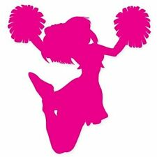 Cheer Pink Cheerleader Car Vinyl Sticker - SELECT SIZE