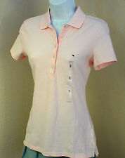 NWT Tommy Hilfiger Women's Polo Shirt Short Sleeve / Pink / Small