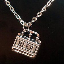 Beer 6 Pack Charm Necklace, Handmade, Optiona Personal Charm, Free Ship