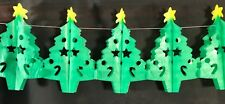 Christmas Tree Paper Garland Decoration-12ft  Flame Resistant- Single/3 Pack
