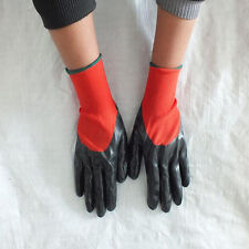 1/2/4/8/12 Pairs Nylon NBR Safety Coated Work Gloves Builders Grip Protect