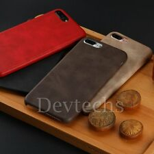 Lightweight Vintage PU Leather Back Case Cover Skin for Apple iPhone 7 & 7 Plus