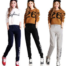 Womens Ladies Jogging Bottoms Joggers Track Pants Gym Sweat Trousers AU