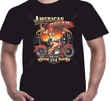 Mens Motorbike Biker T shirt American Dream Motorcycle Kustom Bobber Chopper 157