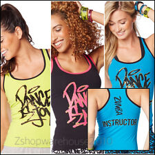 ZUMBA INSTRUCTOR Dance Is Racerback~Metallic Gold TankTop Convention 3Colors M L