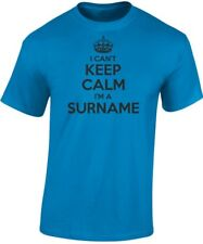 I Can't Keep Calm I'm A Surname ?? Personalised Dad Father's Day Birthday Mens T