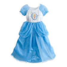 NWT Disney Store Princess Cinderella Deluxe Nightgown 5/6 Costume Gown Dress up