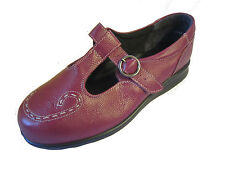 """LADIES DB EASY B RUBY LEATHER SHOES """"JENNY""""/73293R EE FITTING"""