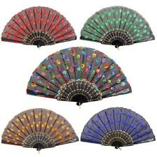 Spanish Sequin Folding hand held fans Wedding Party favors Hen nights Summer