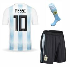 Argentina Home Messi #10 Football Soccer Kids Jersey w FREE Shorts & Socks