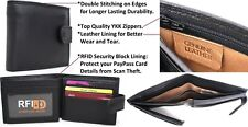 RFID Sleeve free with Leather Wallet Quality Full Grain Cow Hide Leather. 11024