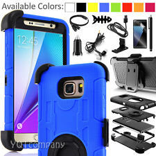 For Samsung Galaxy Note 5 Belt Clip Holster Case with Kick Stand Cover Accessory