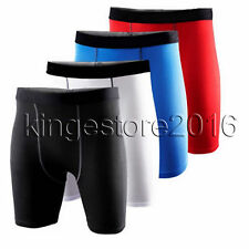 Mens Compression Shorts Wear Sports Briefs Skin Tight Gym Base Layer Under Pants