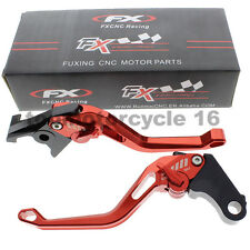 FXCNC 3D Short Fringe Rhombus Brake Clutch Lever For Suzuki GSXR 600 750 1000