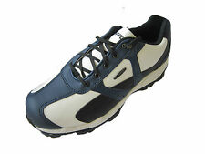 "MENS HI-TEC WHITE/BLACK/NAVY GOLF SHOES + CHANGEABLE STUDS ""DRI-TEC SPORT 300"""