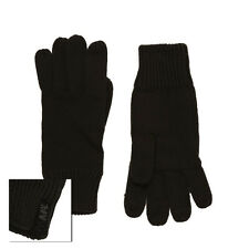 Animal James Gloves Mens Winter Knitted Black One Size Brand New