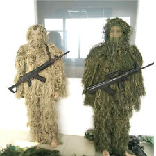 One Size Ghillie Suit Camo Woodland Camouflage Forest Hunting 3D 5-Piece + Bag