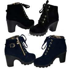 Women platform high heel shoes vintage Motorcycle Boots Pumps Martin Boots OK