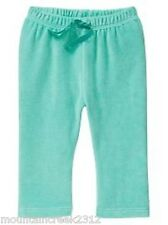 BABY GAP Girls Pants Size 3 6 months Velour Pull On Style Green Infant NEW