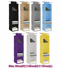 4 shelf Closet Hanging Organizer Wardrobe Storage Bin Bag Box Drawer n,,