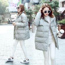 Womens Winter Down Cotton Blend Turn-down Collar Loose Overcoat Jacket Coat #