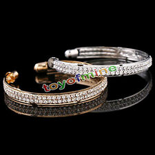 Fashion Style Gold Crystal Rhinestone Bangle Cuff Bracelet Jewelry New Women