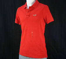 NWT Hollister by Abercrombie Men's Mesh / Pique Polo Shirts, M, Red