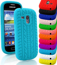 Tyre Soft Silicone Gel Rubber Grip Back Case Cover For Samsung Galaxy Mobiles
