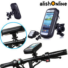 Bicycle Cycle Waterproof Case Handlebar Mount Holder All Mobiles Apple Samsung