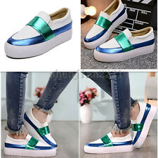 Womens Thick Sole Sneakers Loafers Flats Lazy Casual travel walking Sport Shoes