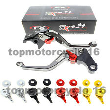 FXCNC Short Gray 3D Rhombus Brake Clutch Lever For BMW R1200RT (2014+up) 14-15